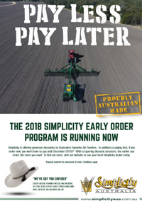 2018 SIMPLICITY EARLY ORDER PROGRAM
